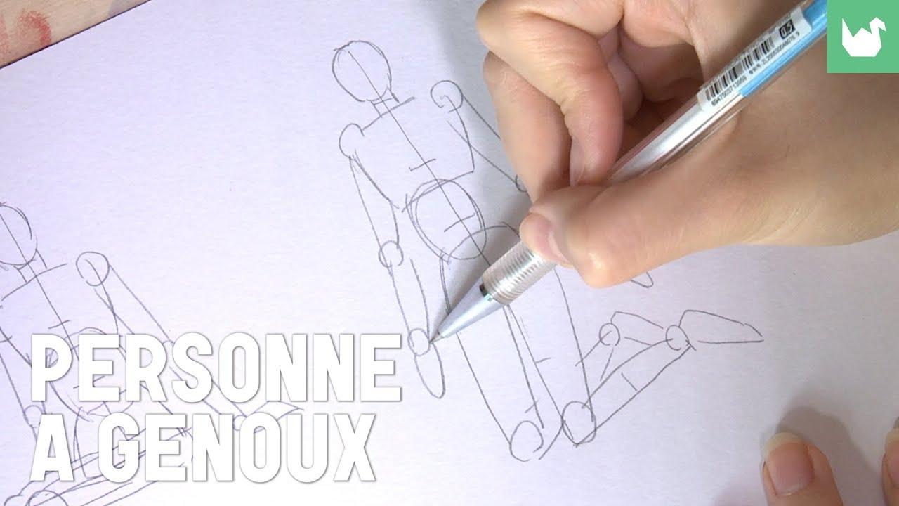 comment dessiner quelqu un a genoux