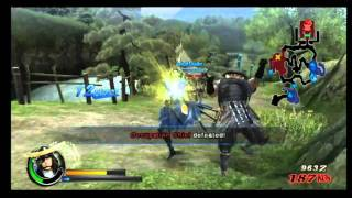 Sengoku BASARA 3 Wii Opening and Date Masamune Gameplay