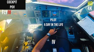 A Day in the Life as an Airline Pilot 4 - Cockpit POV   A320 MOTIVATION 4K [HD]