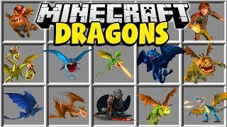 Minecraft DRAGONS MOD | TAME HUGE DRAGONS AND HAVE A DRAGON ARMY!