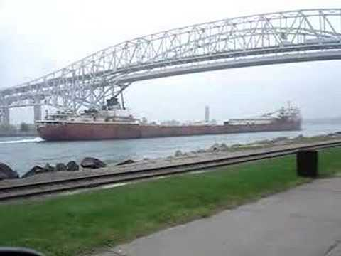Ship travels the St. Clair River