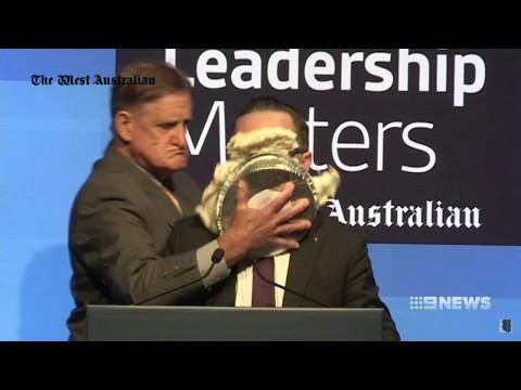 Nine + Seven News. Man Pies Joyce Over Using Qantas For Gay Agenda.