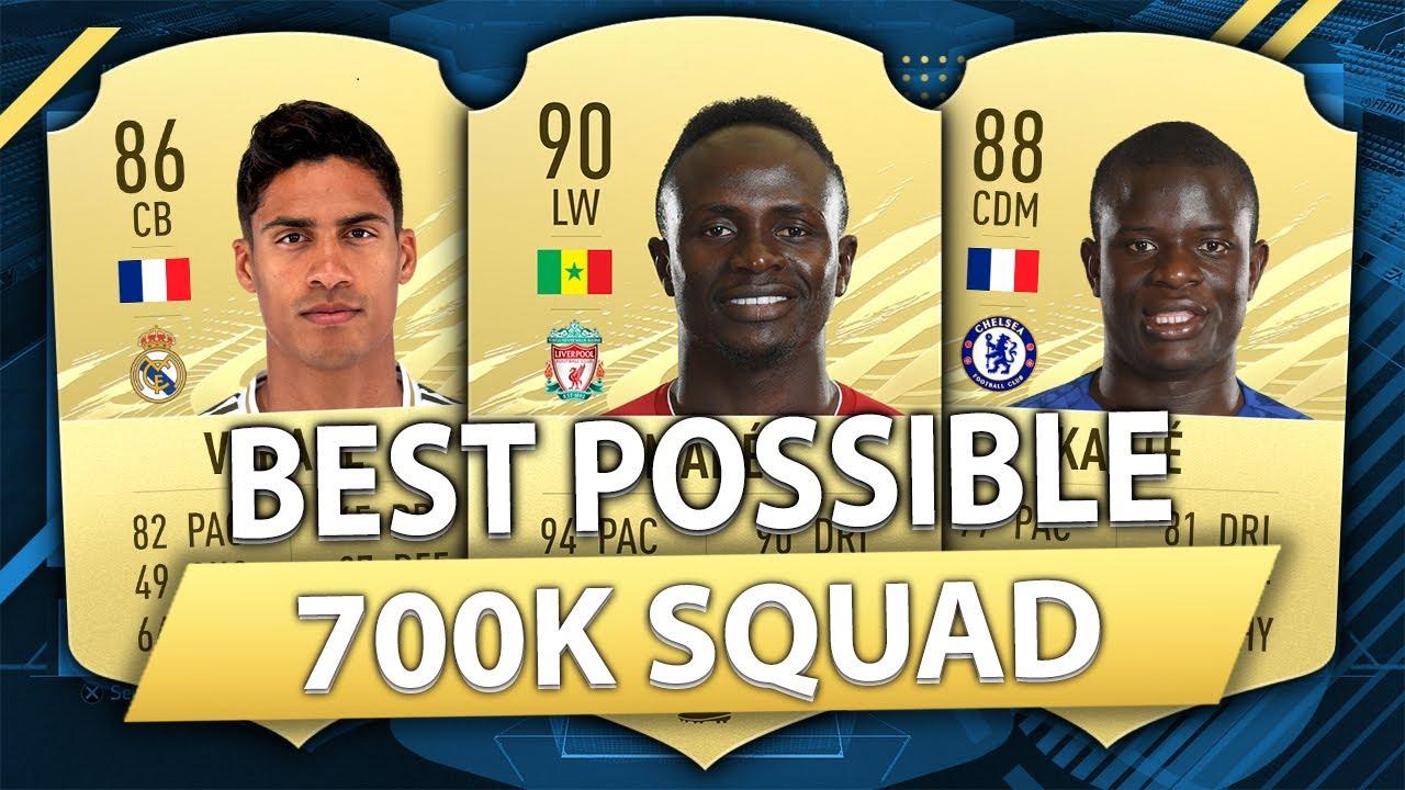 FIFA 21: BEST POSSIBLE 700K SQUAD BUILDER (700K HYBRID)