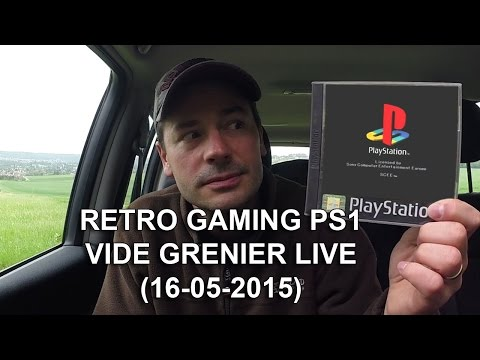 retro gaming PS1 - vide grenier live (15-05-2016)