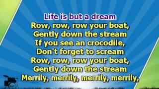 Karaoke for kids - Row, row, row your boat ( www.letsing.pl )