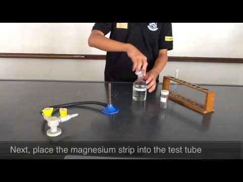 Testing for hydrogen gas_ burning splint