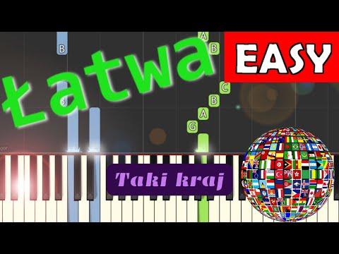 🎹 Taki kraj (Jest takie miejsce, jest taki kraj, Jan Pietrzak) - Piano Tutorial (łatwa wersja) 🎹