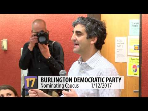 Burlington Democratic Party Caucus 01/12/2017
