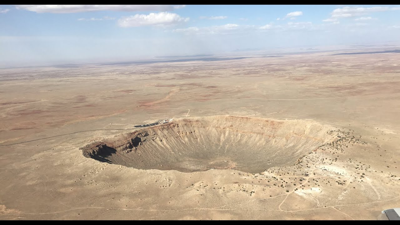 Standing In The Middle Of Meteor Crater - 360 / VR - YouTube