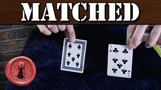 This card trick may scare some people - Matched
