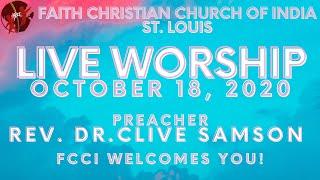 FCCIndia Live Worship 10/18/2020 | FCCI St. Louis