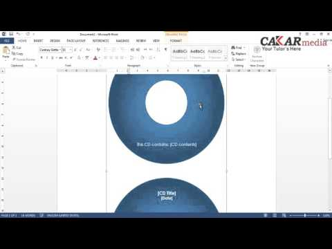Cara Membuat Label DVD Dengan Ms  Word