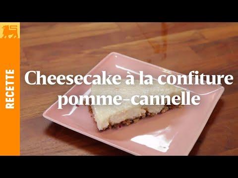 Cheesecake à la confiture pomme-cannelle
