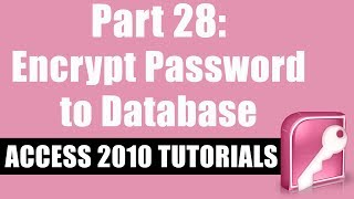 Microsoft Access 2010 Tutorial for Beginners - Part 28 -  Password Protect an Access Database