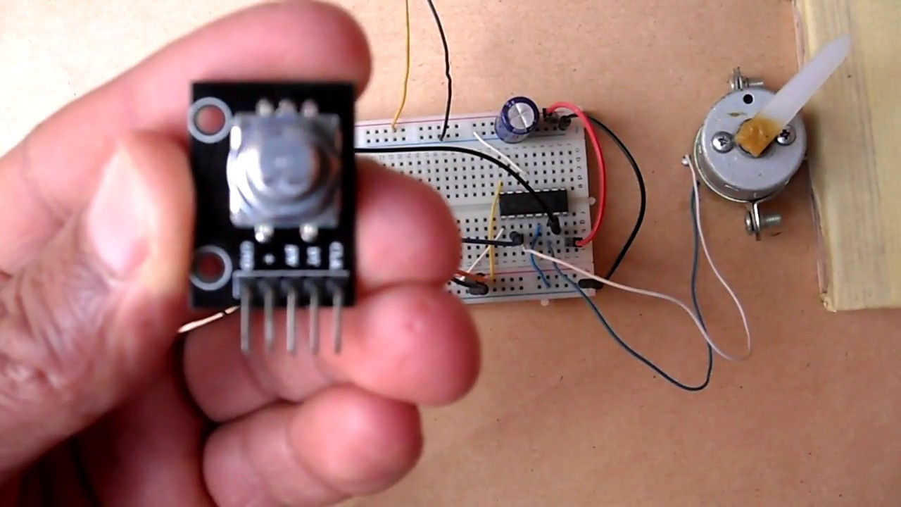 dc motor control with arduino and rotary encoder [ 1280 x 720 Pixel ]
