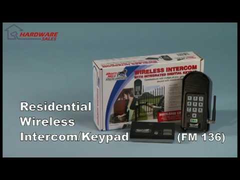 Mighty Mule Fm136 Wireless Intercomkeypad Youtube