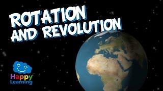 Скачать Rotation And Revolution Of Earth Educational Video For Kids