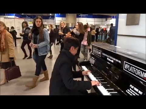 Piano-playing at Tottenham Court Rd Tube Station