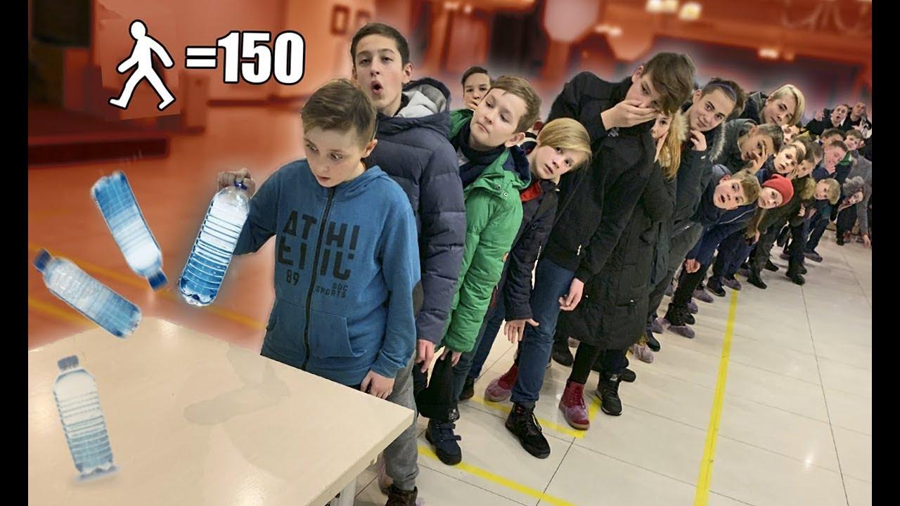 КТО ПОСЛЕДНИЙ, ПОЛУЧИТ 1000$ Water Bottle Flip Challenge