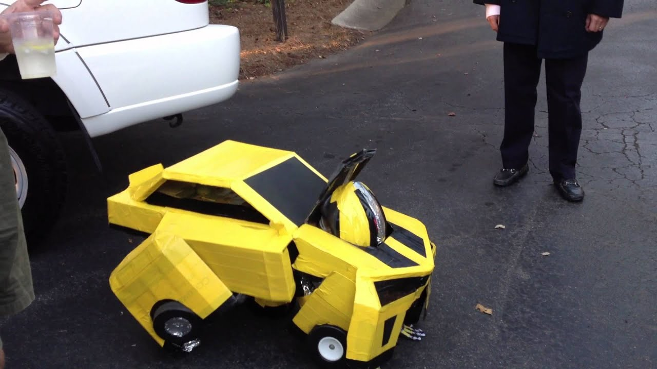& Awesome Bumblebee Transformer Costume. Homemade! - YouTube