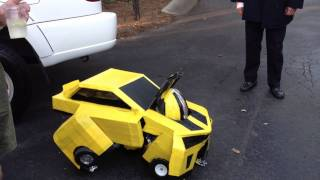 Awesome Bumblebee Transformer Costume. Homemade!