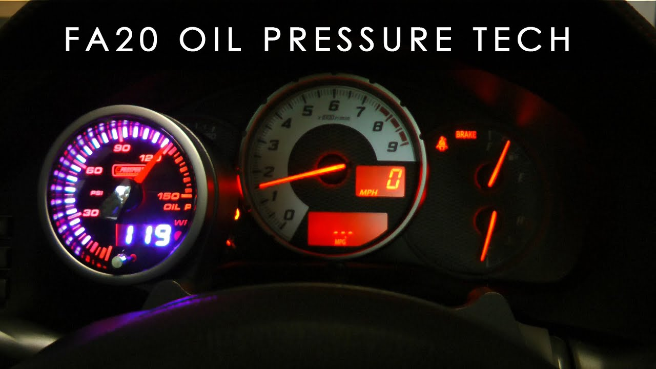 Frs Brz Oil Pressure And Temperature Tech Fa20 Youtube
