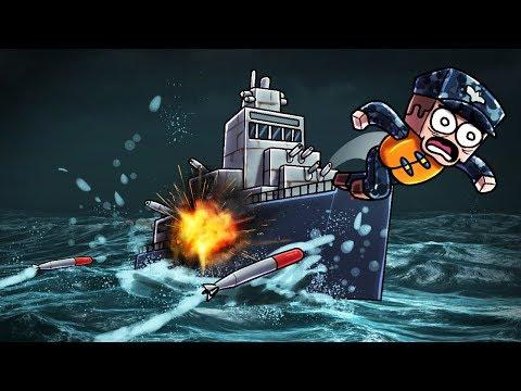 Minecraft | NUKE WARS - Secret Battleship! (Nuclear Missile Launch Station)