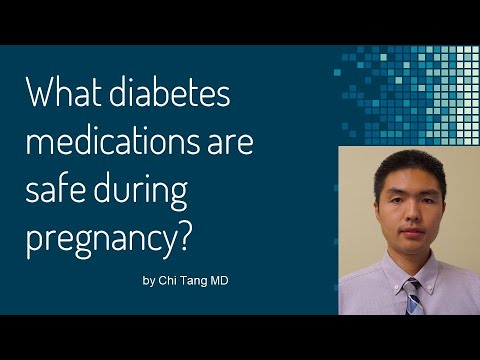 What diabetes medications are safe during pregnancy?