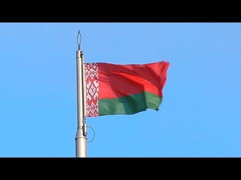 Флаг Беларуси. Развевающийся флаг Беларуси. Флаг на ветру. Футажи для видеомонтажа