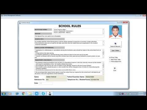 How to print school rules (Eduplus School Management Software)