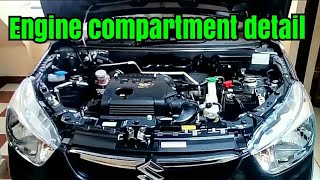Alto k10 engine compartment parts detail