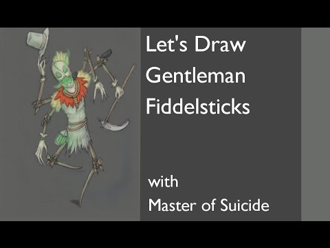 Let's draw Gentleman Fiddlesticks