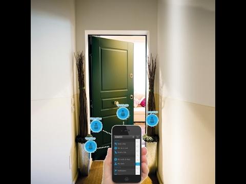 Cilindro per porta blindata elettronica apertura con il telefonino App bluetooth