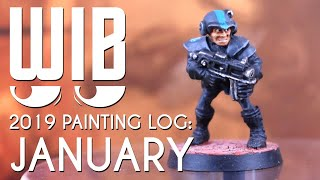 2019 Mini Painting Log: January