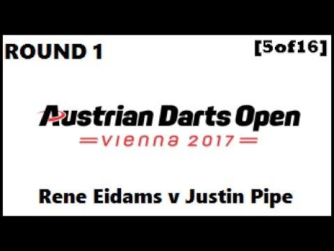 Austrian Darts Open 2017 HD - Round 1 [5of16]: Rene Eidams v Justin Pipe