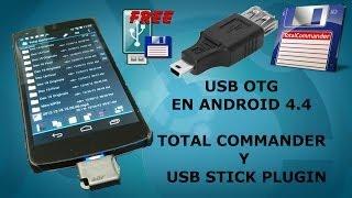 Conectar USB por OTG usando Total Commander + USB Stick Plugin