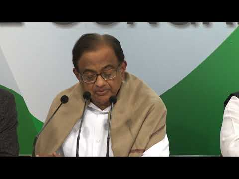 AICC Press Briefing by Former FM P. Chidambaram and Randeep Singh Surjewala on Union Budget, 2018