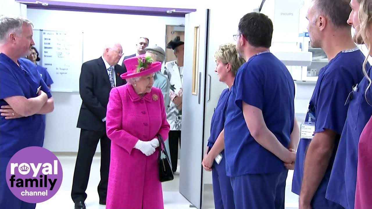 Download The Queen Meets With Staff and Patients at Cambridge's New Papworth Hospital