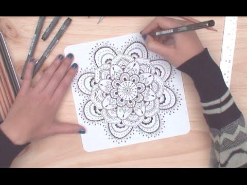 Cómo dibujar mandalas | facilisimo.com - YouTube