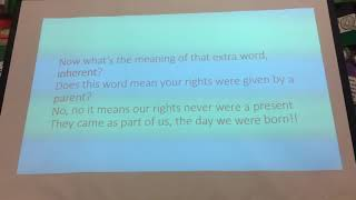 Our Rights are Special Sing-a-Long with the Children!!