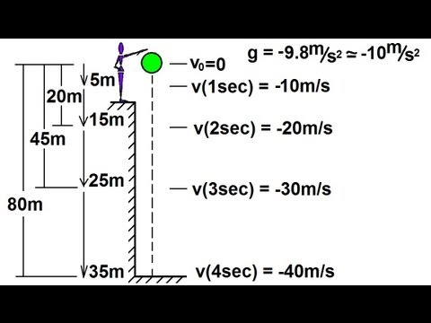 Physics - Mechanics: Motion In One-Dimension (13 of 22) Free Fall: Conceptual Approach