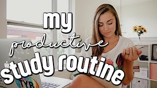 MY STUDY ROUTINE | how to study, take notes + stay organized in college