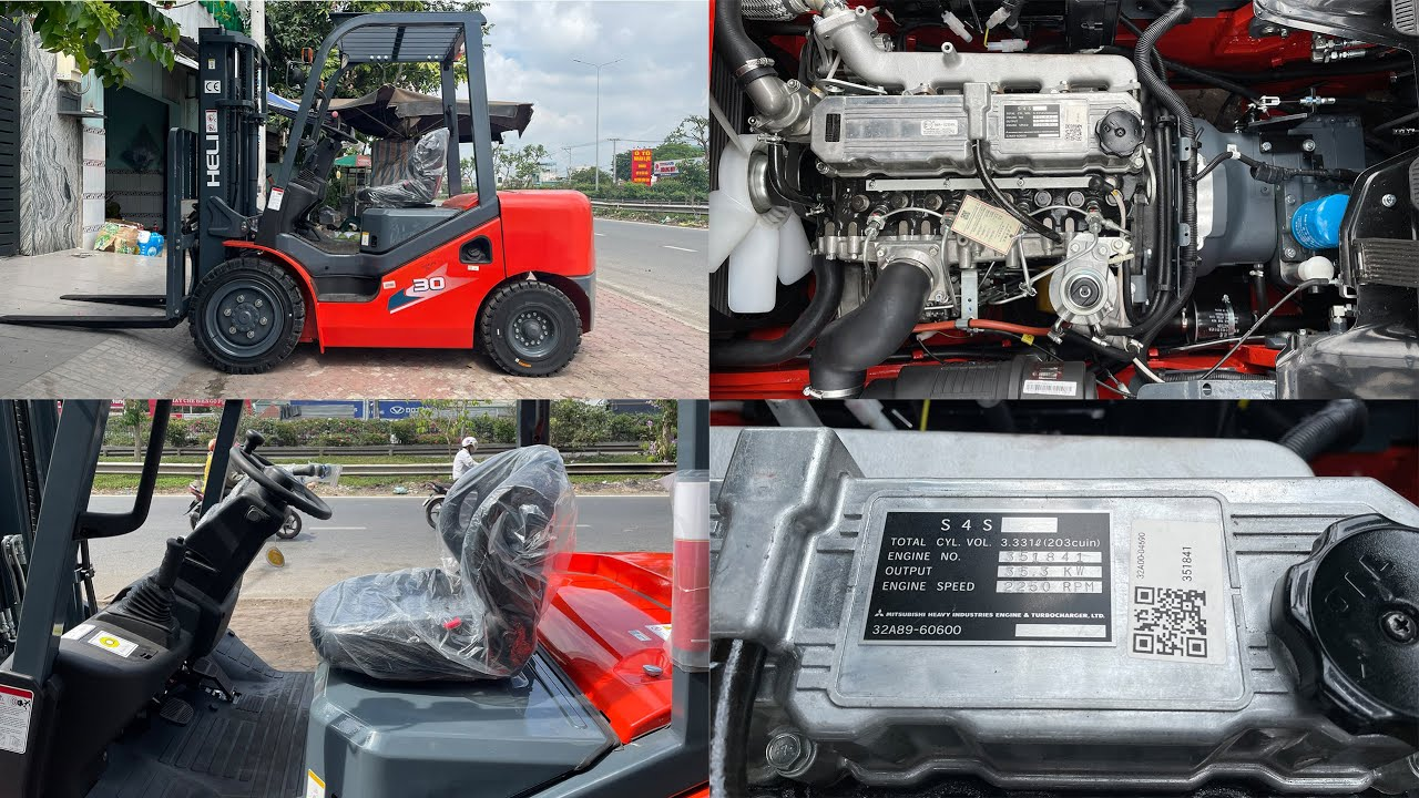 Xe nâng lắp động cơ Mitsubishi S4S | Xe nâng dầu HELI CPCD30-M3H