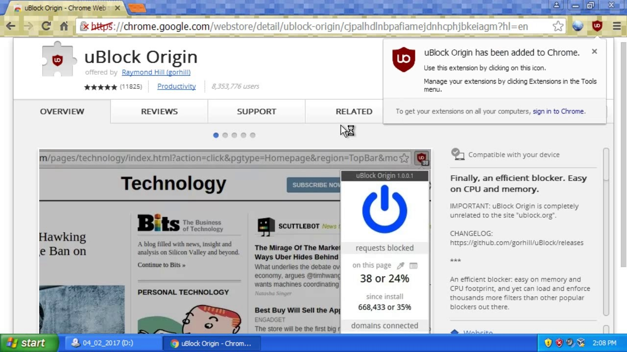 How to Block Ads on YouTube using uBlock Origin (Chrome v31+)