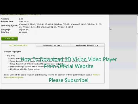 How To Download 3D Vision Video Player