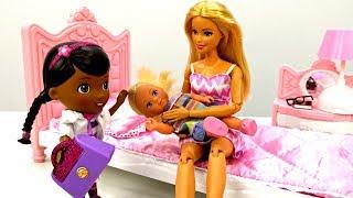 Куклы Барби: Штеффи упала со стола. Игры для девочек. Мультики с куклами Барби