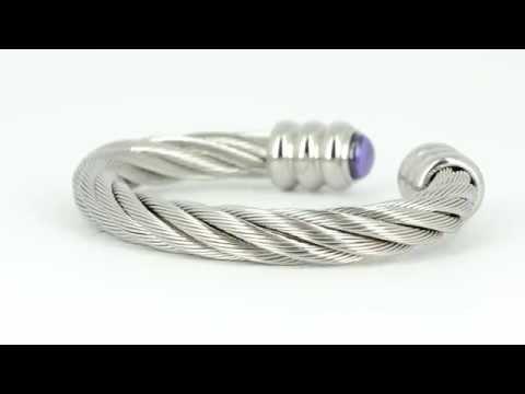 Cable bracelet - cable bangle