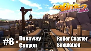 #8 Runaway Canyon by pvdv1988 - Review 4.6 - NoLimits 2 - Roller Coaster Sim - PC Gameplay 60fps