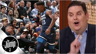 Jimmy Butler's 2018-19 Wolves home debut was 'amazing' - Brian Windhorst | The Jump