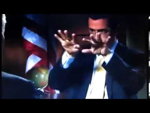 Stephen Colbert imitating an atom bomb